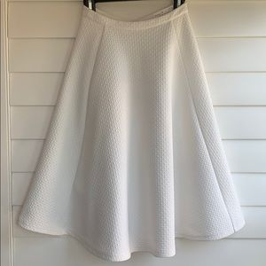 J.O.A White Textured Circle Skirt